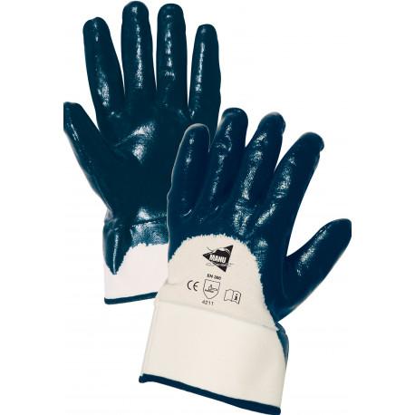 12 paires de gants nitrile imperméable manchette ML001