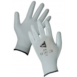 Lot de 12 paires de gants polyuréthane blancs MF102