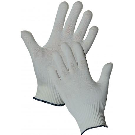 12 paires de gants tricotés polyamide blancs GT413
