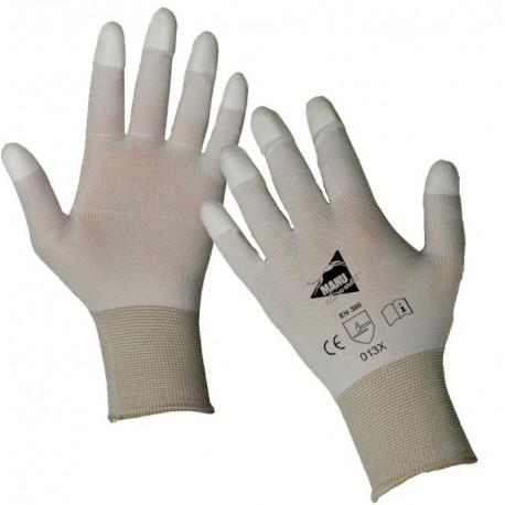 12 paires de gants polyuréthane blancs MF101