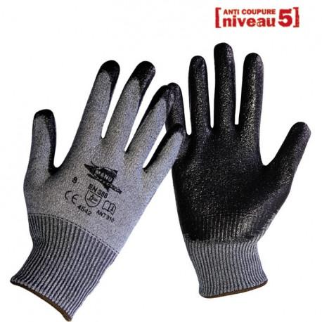 Gants anti-coupure enduction nitrile ANT310