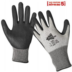 12 paires de gants anti-coupure enduction latex ANT508