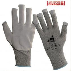 12 paires de gants anti-coupure et thermique KEVLAR GT428