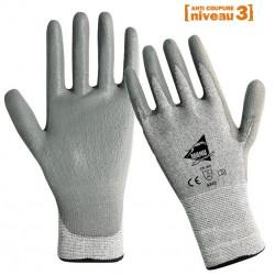 12 paires de gants anti-coupure gris polyuréthane ANT305s