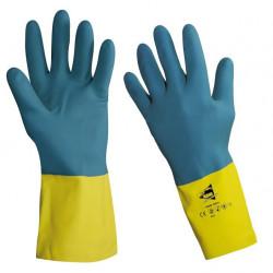 Lot de 12 paires de gants chimiques latex et néoprène RC603