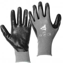 12 paires de gants manutention moyenne Nitrile MM021