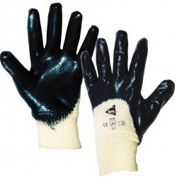 Lot de 12 paires de gants nitrile poignet tricot ML002