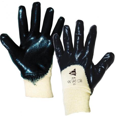 12 paires de gants nitrile imperméable poignet tricot ML002