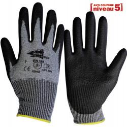 12 paires de gants anti-coupure anthracite polyuréthane ANT308