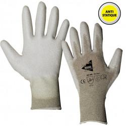 12 paires de gants polyuréthane antistatique MF105