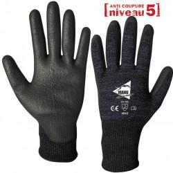 12 paires de gants anti-coupure polyuréthane AC201