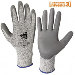 Lot de 12 paires de gants anti-coupure NIV. 3, C1001