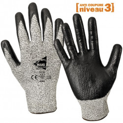 12 paires de gants anti-coupure enduction nitrile C1003