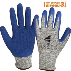 12 paires de gants anti-coupure enduction latex C1004