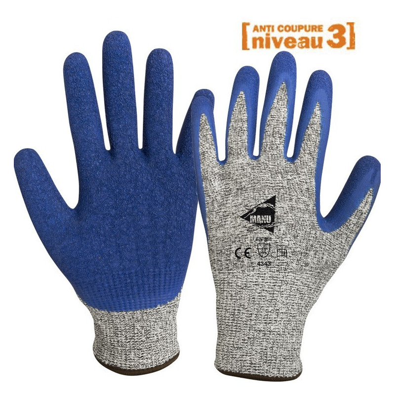 gant anti coupure cuisine Gants anti-coupure enduction latex C1004 ...