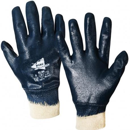 12 paires de gants nitrile imperméable poignet tricot ML003