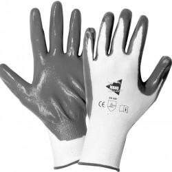 12 paires de gants manutention moyenne Nitrile MM017