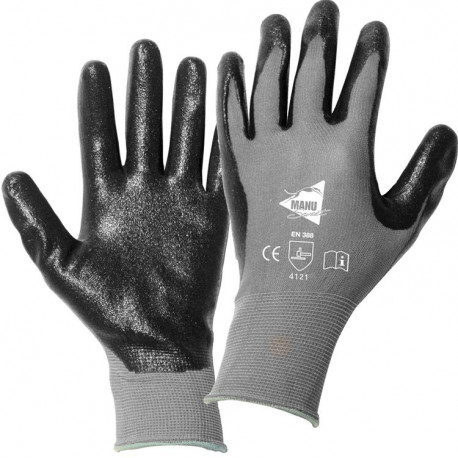 12 paires de gants manutention moyenne Nitrile mousse MM018