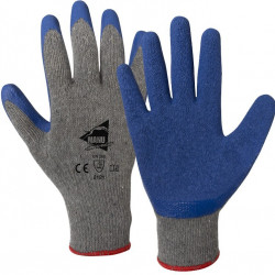 12 paires de gants manutention moyenne Latex L1203