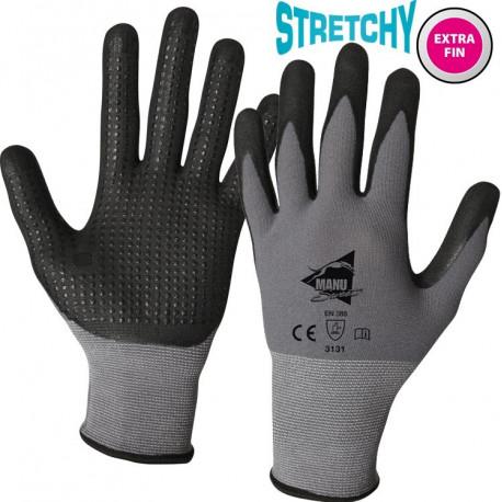 12 paires de gants manutention moyenne Polyuréthane/Nitrile MM300