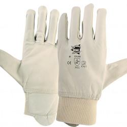 12 paires de gants cuir de bovin C815