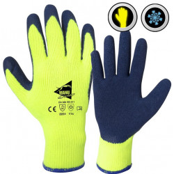 12 paires de gants enduction latex L1401