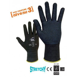 LOT de 10 paires de gants NERO ANTI COUPURE Niv.3