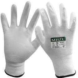 12 paires de gant polyuréthane blanc MIIZU