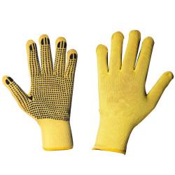 12 paires de gants anti-coupure picots PVC GT423