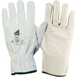 Lot de 12 paires de gants cuir de bovin C807