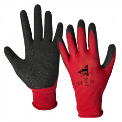 12 paires de gants manutention moyenne Latex L2001
