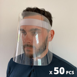 Lot de 50 visières de protection