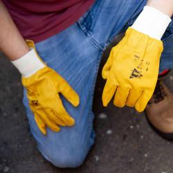 Lot de 12 paires de gants cuirs de bovin hydrofuges C809